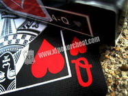Black Tiger Ellusionist Plastic Marked Poker Cards Side Barcode For Poker Analyzer