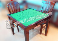 Wooden Square Marked Playing Cards Perspective Table With Hidden Camera