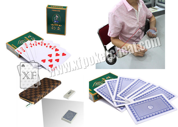 Chinese DiaoYu Paper Marked Invisible Poker Cards With Sides Bar Codes For Poker Analyzer And Poker Scanner