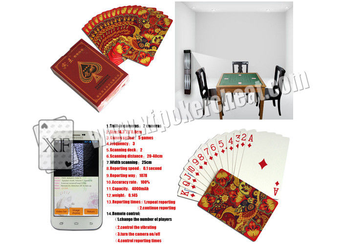 Luxury Paper Side Marked Poker Cards With Cheat Analyzer ISO 9001 Certification