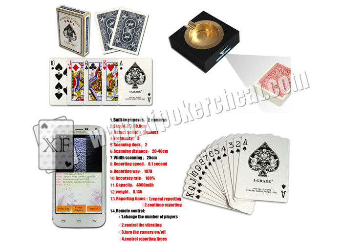 I-GRADE Paper Marked Playing Cards With Side Invisible Barcodes , Poker Trick Card