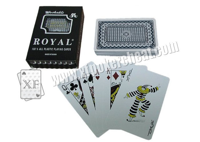 Taiwan Royal Gambling Props Plastic Playing Cards Bridge Size Regular Size