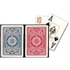 Kem Arrow Plastic Blue Red Poker Size Jumbo Index Gambling Props Playing Cards