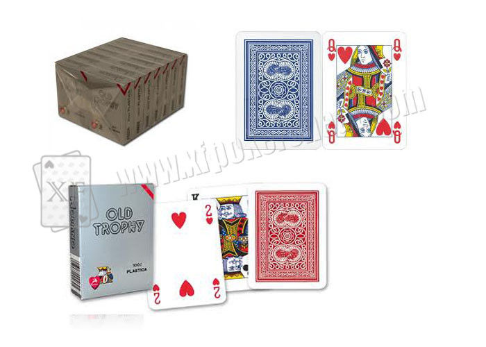 4 Regular Index  Plastic Modiano Golden Trophy Playing Cards With Single Deck